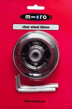 Mini & Maxi Hinterrad 80 mm Clear